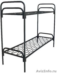 кровати металлические двухъярусные, кровати для пансионатов, кровати одноярусные - Изображение #4, Объявление #696158