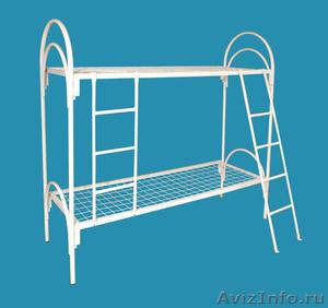 кровати металлические двухъярусные, кровати для пансионатов, кровати одноярусные - Изображение #1, Объявление #696158