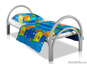 Кровати металлические одноярусные, для бытовок, кровати двухъярусные дёшево - Изображение #1, Объявление #1480239
