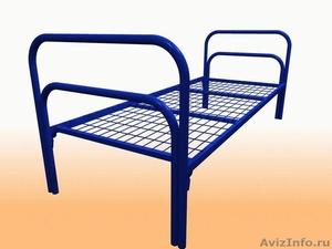 Кровати металлические одноярусные, для бытовок, кровати двухъярусные дёшево - Изображение #4, Объявление #1480239