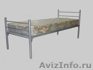 Кровати металлические для казарм, кровати двухъярусные для общежитий. Дёшево - Изображение #2, Объявление #1479840
