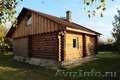 Русская домашняя баня из сруба с бассейном в деревне