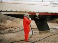 Очистка,  удаление краски с корпусов катеров и яхт